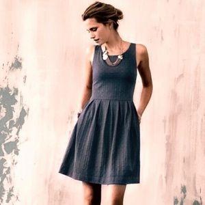 Anthropologie Deletta Gray Dress Size S